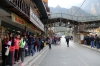 Queues for buses to Machu Picchu at Aguas Calientes