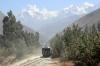 Peru Rail Alco DL532 #353 departs Ollantaytambo with the Belmond Hiram Bingham Train 11 0905 Cusco Poroy - Machu Picchu, which had started at Ollantaytambo due to the strike that had closed Ollantaytambo to Cusco