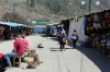 Looking towards Ollantaytambo station from the Peru Rail & Inca Rail ticket offices up the street