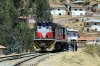 Not in the best of health, with a man beneath it taking a traction motor to pieces, FCHH MLW DL532 435 stands off the 0630 Huancayo Chilca - Huancavelica (Train Macho) at Yauli; it wouldn't make it to Huancavelia until 1545 vice 1230!