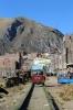 An FCCA motorised trolley leaves Huancavelica