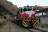 FCHH MLW DL532 435 waits departure from Huancavelica with Train Macho the 0630 Huancavelica - Huancayo Chilca
