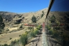 Running through the Andes between Tambo & La Oroya on board FCCA's 0700 Huancayo - Lima Los Desamparados tourist train; led by FCCA EMD JT26CW-2B 701
