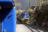 Peru Rail GM G12 #510 arrives into Quri Wayrachina with Expedition Train #72 (with local coaches too) 0734 Hidroelectrica - Ollantaytambo