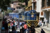 Peru Rail MLW DL535 #400 at Aguas Calientes with Local Train 21 0700 Cusco San Pedro - Hidroelectrica