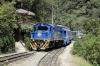 Peru Rail Alco DL532 #358 arrives into Machu Picchu with Vistadome Train 203 0825 Cusco Poroy - Machu Picchu