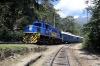 Peru Rail Alco DL532 #353 arrives into Machu Picchu with the Belmond Hiram Bingham Train 11 0905 Cusco Poroy - Machu Picchu