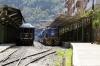 Peru Rail MLW DL535 #481 sits at Machu Picchu; it would work Vistadome Train 32 1520 Machu Picchu - Cusco Poroy