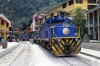 Peru Rail Alco DL532 #356, MLW DL535 #482 & Alco DL532 #352 wait their next turns of duty in the street at Aguas Calientes