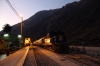 Peru Rail Alco DL535 #487 (ex DL532 #357) waits to depart Ollantaytambo with Expedition Train 81 0610 Ollantaytambo - Machu Picchu