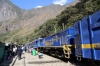 Peru Rail MLW DL535 #482 at Hidroelectrica having arrived with Expedition Train 501 1330 Machu Picchu - Hidroelectrica. It had run in on top of the stock ex Local Train 21 0700 Cusco San Pedro - Hidroelectrica and would ultimately be detached to work Local Train 22 1635 hidroelectrica - Cusco San Pedro back with the loco ex Train 21 dropping onto the rear of Train 501's set and working Expedition Train 504 1450 Hidroelectrica - Ollantaytambo back, which was Alco DL532 #358