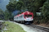 Inca Rail Train 64 1612 Machu Picchu - Ollantaytambo heads away from Machu Picchu