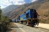 Peru Rail Alco DL532 #358 shunting stock at Ollantaytambo