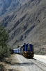 Peru Rail MLW DL535 #482 departs Ollantaytambo with Local Train 21 0700 Cusco San Pedro - Hidroelectrica; which would start at Ollantaytambo due to the stike that had closed Ollantaytambo to Cusco