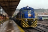 Peru Rail MLW DL560 #659 at Cusco Wanchaq with train 20 0800 Cusco Wanchaq - Puno (Andean Explorer)