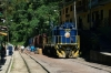 Peru Rail Alco DL535 #400 waits its next turn in the streets of Aguas Calientes