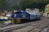 Peru Rail Alco DL532 #358 shunts stock at Cusco Poroy; it would then work train 33 0742 Poroy - Machu Picchu