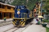 Peru Rail Alco DL535 #400 waits its next turn in the streets at Aguas Calientes station