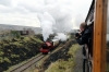 Hunslet Austerity 0-6-0ST WD71515 approaches Furnace Sidings with the 1055 Blaenavon HL - Furnace Sidings; as seen from the 1059 Big Pit - Furnace Sidings, which is being propelled into the station by Andrew Barclay 0-4-0ST Rosyth No.1