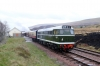 31203 at Furnace Sidings after arrival with the 1150 Blaenavon HL - Furnace Sidings