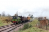 Andrew Barclay 0-4-0ST Rosyth No.1 sets off from Furnace Sidings for Whistle Inn while working the Whistle Inn - Big Pits shuttles