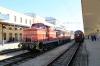 PTG Balkan Circular Tour - BDZ Cargo 07001 at Plovdiv with 1690 0936 Haskovo - Sofia. BDZ Cargo 06114 & 52116 stand alongside