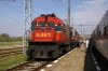 OSE MLW MX627 A467 is used to shunt BDZ's failed 44100 off the tour stock at Kulata; before being attached itself