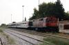 OSE MLW MX627 A467 waits at Xanthi with 7670 1200 Strimon - Alexandroupouplis Port leg of the PTG Tour Day 1; it would cross OSE 220031 with train 601 1511 Alexandroupoulis - Athens