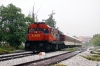 OSE MLW MX627 A461 at Florina, in the pouring rain, after arrival with 7730 0740 Thessalonica - Florina leg of PTG Tour Day 5