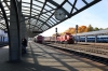 BCh TME1-017 shunts wagons into Vitebsk station while RZD 2M62U-0002a&b wait the road out into the yard