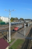RZD 2M62U-0002 run out of Vitebsk station towrds the yard