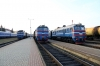 Polotsk (L-R) - BCh 2M62U-310b after arrival with 6657 1633 Aleshcha - Polotsk, 2M62-1096 waiting to depart with 6663 1741 Polotsk - Bigosovo & 2M62U-262b after arriving with 7182 1458 Vitebsk - Polotsk