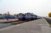 Mogilev 1 (L-R) - BCh 2M62U-0259a waits to depart Mogilev 1 with 6570 1743 Mogilev 1 - Orsha Central, 2M62U-0309b waits to depart with 6559 1734 Mogilev 1 - Zhlobin and 2M62U-0263a waits to depart with 6587 1745 Mogilev 1 - Osipovichi 1
