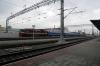 BCh TEP70-0313 arrives into Gomel with 100f 0705 Minsk Pas. - Zaporizhzhya 1 (Ukraine)