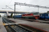 BCh TEP70-0209 waits to depart Osipovichi 1 with 302S 1650 (PP) Adler (Russia) - Minsk Pas.