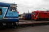 BCh TEP70BS-009 arrives into Osipovichi 1 with 614b 1426 Soligorsk - Mogilev 1 while EMU ER9T-685 waits to depart with 6929 1721 Osipovichi 1 - Minsk Pas. and the cab car of 2M62U-0311b's DDB1 set brings up the rear of what would be 6588 1801 Osipovichi 1 - Mogilev 1