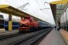 BCh TME2-002 shunts a St Petersburg portion to train 681b 0928 Minsk Pas. - Brest Central at Minsk