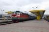 BCh ChS4T-546 waits departure from Minsk Pas. with 681b 0928 Minsk Pas. - Brest Central