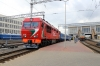 BCh TEP70BS-172 waits to depart Minsk Pas. with its load 18 rake forming 648b 1544 Minsk Pas. - Gomel while BCh ChS8-072a&b wait to depart with 64 1550 Minsk Pas. - Novosibir G