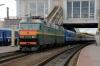 BCh ChS8-072a&b wait to depart Minsk Pas. with 64 1550 Minsk Pas. - Novosibir G