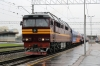 LDZ Cargo TEP70-0203 waits to depart Riga with combined trains 2/38 1730 Riga - Moscow/St Petersburg