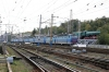 UZ ChS4 electrics lined up outside Kyiv Pas. station with ChS4-081 being the one on the blocks