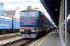 UZ ChS4-117 at Kyiv Pas. after arrival with 781 0609 Poltava Pivd - Kyiv Pas.