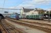 UZ ChS4-064/ChS4-169 waits to depart Kyiv Pas. with 84 1321 Kyiv Pas. - Mariupol while UZ VL80K-646 arrives with a short freight