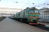 UZ 2M62-940a&b at Korosten with 141 1544 Kyiv Pas. - Lviv having replaced UZ DS3-018 for the run via Sarny to Kovel and Lviv