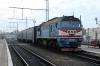 UZ 2M62-1001 (Set DPL1-006) waits to depart Kovel with 6318 0832 Kovel - Sarny