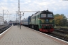UZ M62-1397 waits to depart Kovel with 6373 0835 Kovel - Jagodin with load two platskarts in tow