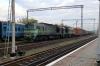 UZ 2M62-1202a&b run through Kovel with a freight