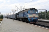 UZ 2M62-1114 (Set DPL1-004) waits to depart Kovel with 6311 0915 Kovel - Zabolotty