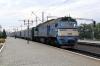 UZ 2M62-1114 (Set DPL1-004) waits to depart Kovel with 6311 0915 Kovel - Zabolotty
